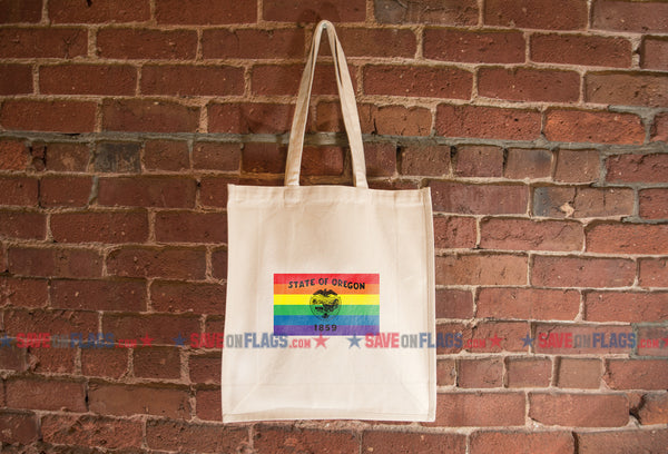 Oregon LGBT Pride Flag Tote Bag