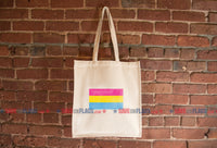 Pansexual Pride Flag Tote Bag