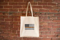 USA Orange Line Flag Tote Bag