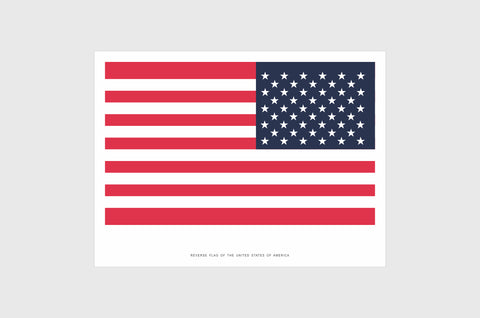 United States of America Opposing Flag Sticker, Weatherproof Vinyl, USA Flag Stickers