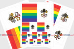 Vatican LGBT Gay Pride Flag Sticker, Weatherproof Vinyl Vatican LGBT Pride Flag Stickers