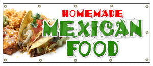 Homemade Mexican Food Banner