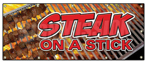 Steak On A Stick Banner