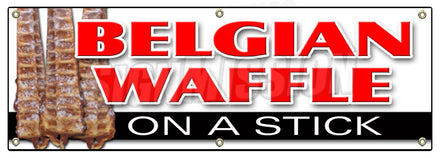 Belgian Waffle On A Stick Banner