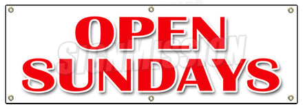 Open Sundays Banner