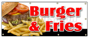 Burger & Fries Banner