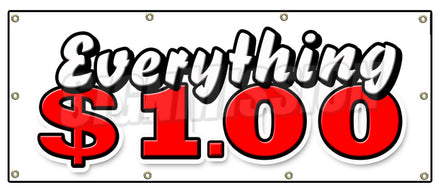 Everything 1 Dollar Banner