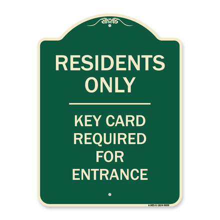 Residence-only-key Card