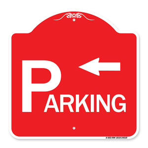 Parking with Arrow Pointing Left