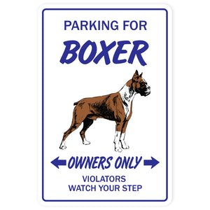 BOXER DOG Sign
