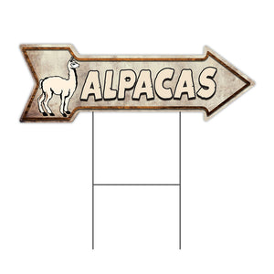 Alpacas Arrow Sign