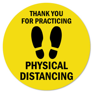 "Thank You For Practicing Safe Distance 7"" Floor Marker"