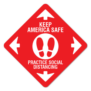 "Keep America Safe 7"" Floor Marker"