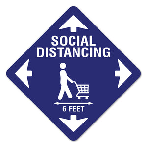 "Social Distancing Cart 7"" Floor Marker"