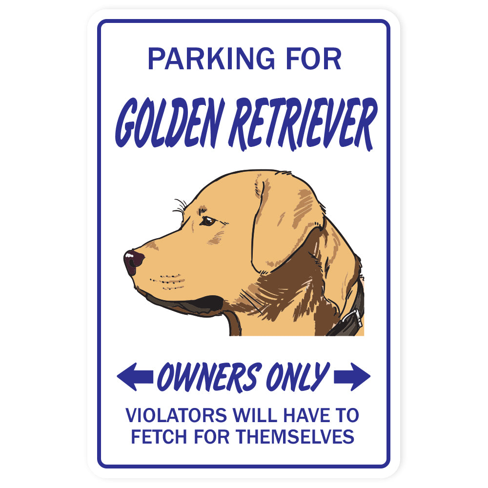 GOLDEN RETRIEVER Sign