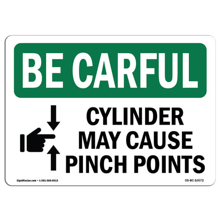 Cylinder May Cause Pinch Points With Symbol