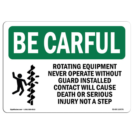 Rotating Equipment Never Operate With Symbol