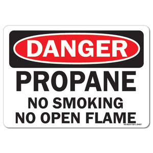 Propane No Smoking No Open Flames