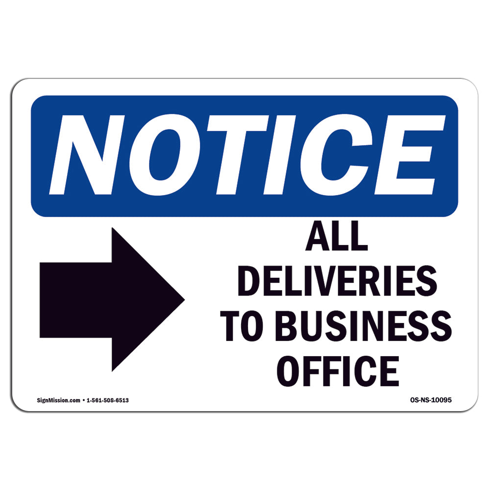 All Deliveries To Business Office