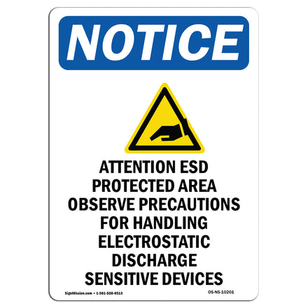 Attention ESD Protected Area