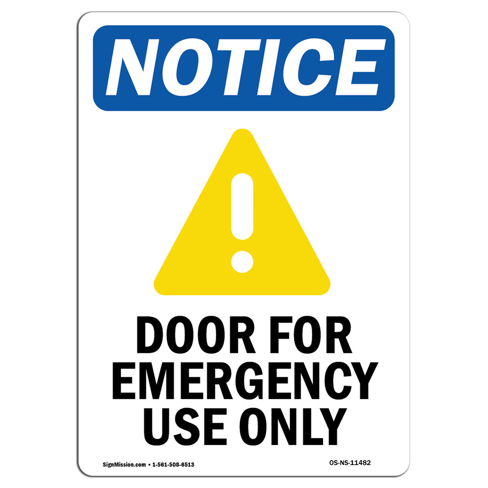 Door For Emergency Use Only