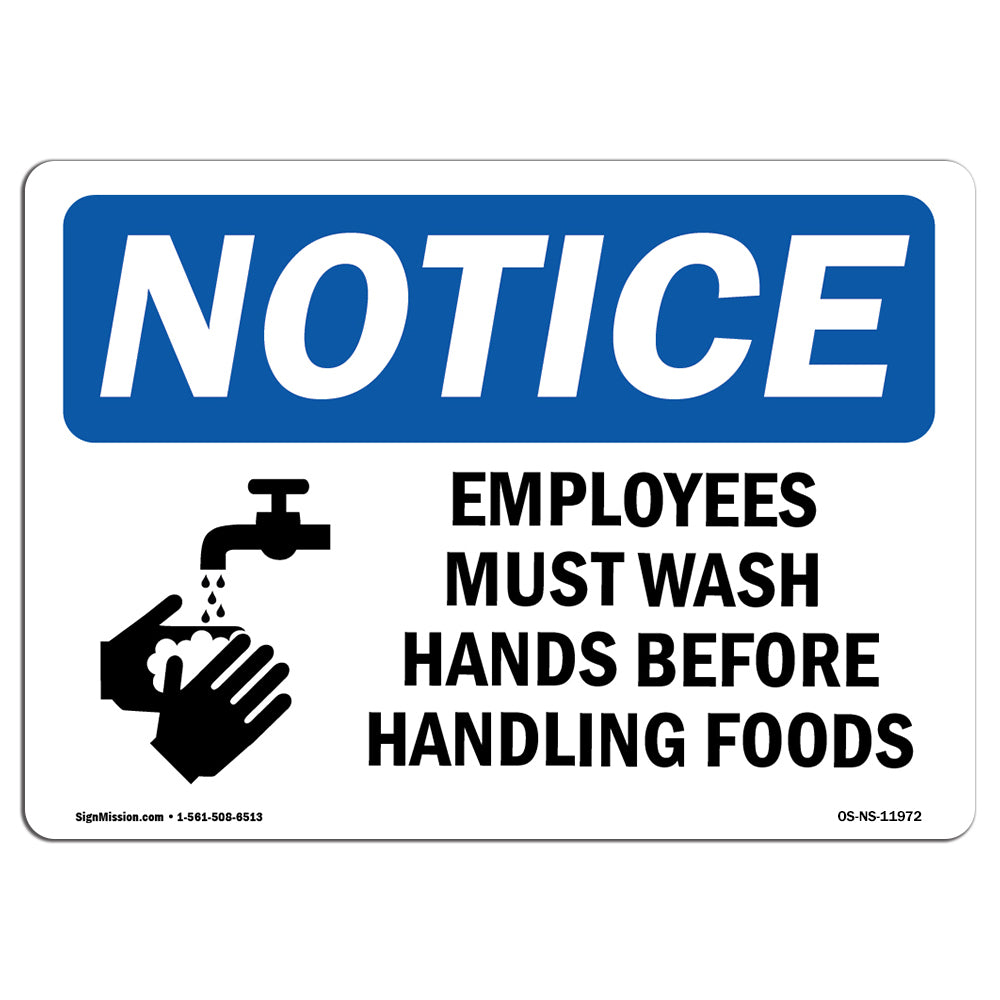 Employees Must Wash Hands Before
