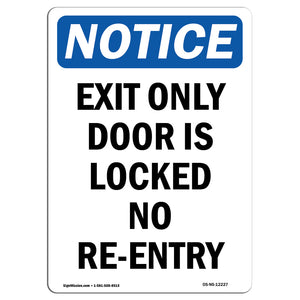 Exit Only Door Is Locked No Re-Entry