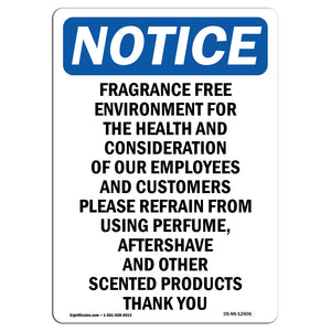Fragrance Free Environment For