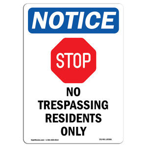 No Trespassing Residents Only