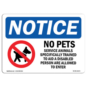 No Pets Service Animals