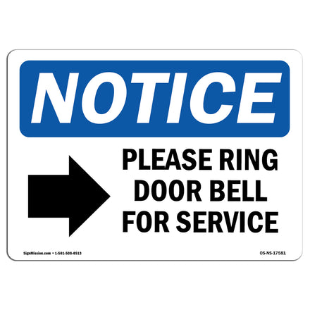 Please Ring Door Bell For Service