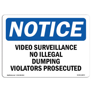 Video Surveillance No Illegal Dumping Violators