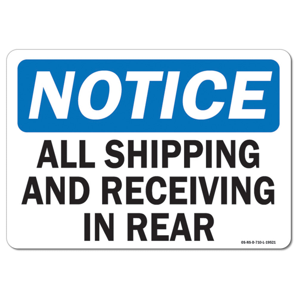 All Shipping and Receiving In Rear