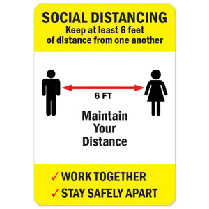 Social Distancing Keep At Least 6 Feet Of Distance