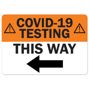 COVID-19 Testing This Way Left Arrow