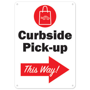 Curbside Pick-up This Way Right Arrow