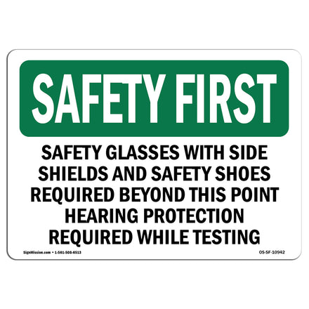 Safety Glasses With Side Shields And Safety