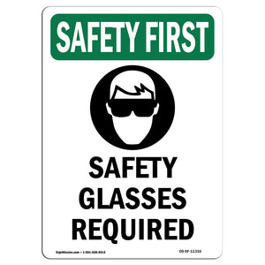 Safety Glasses Required With Symbol