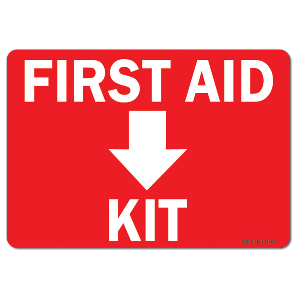 First Aid Kit with Down Arrow