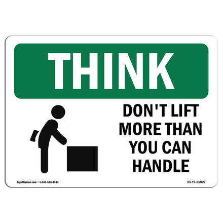 Don't Lift More Than You Can Handle