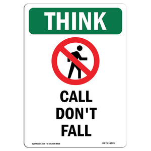 Call Don't Fall With Symbol
