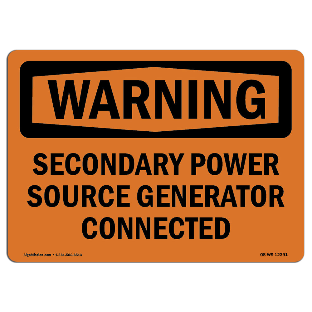 Secondary Power Source Generator Connected