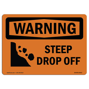 Steep Drop Off With Symbol