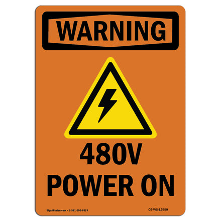 480V Power On With Symbol