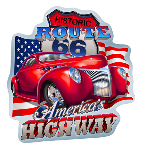 Route 66 America's Highway Vinyl Decal Sticker