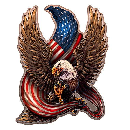 Patriotic Eagle Vinyl Decal Sticker