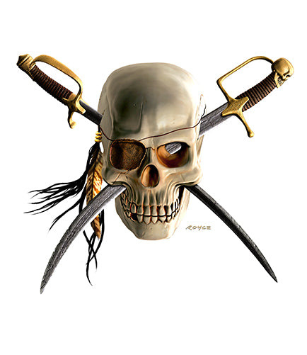 Pirate Skull Vinyl Decal Sticker