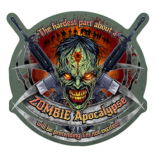 Zombie Apocalypse Vinyl Decal Sticker