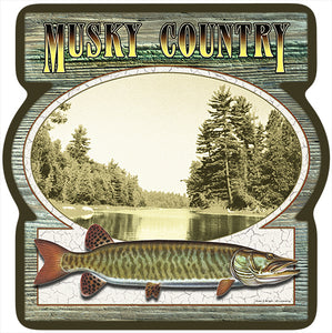 Musky Country Vinyl Decal Sticker