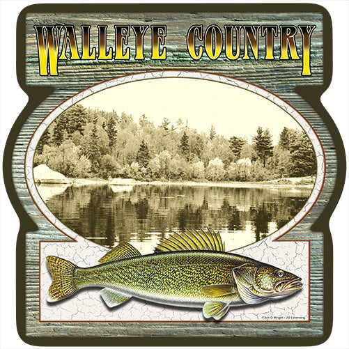 Walleye Country Vinyl Decal Sticker